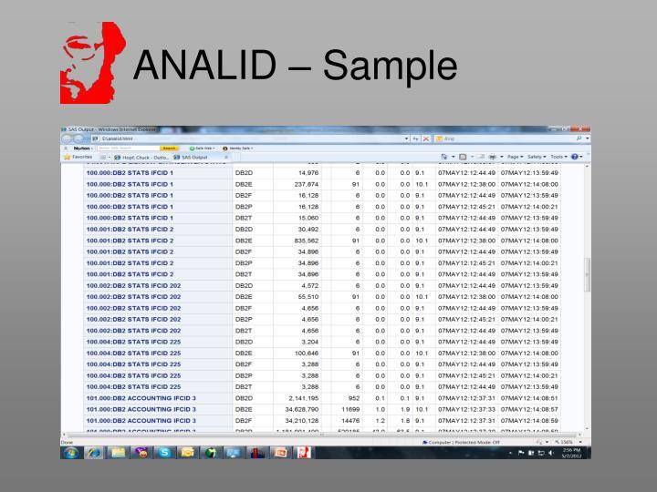 ANALID – Sample