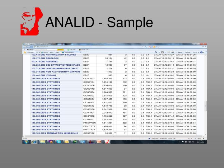 ANALID - Sample