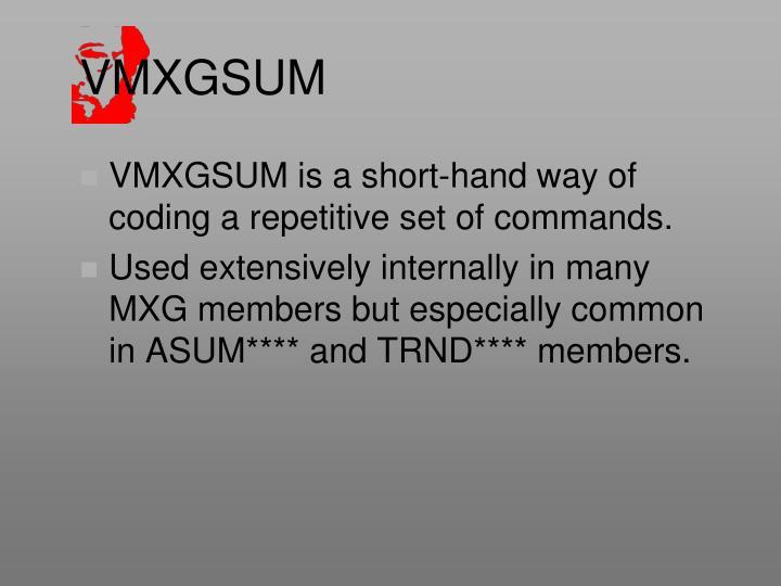 VMXGSUM