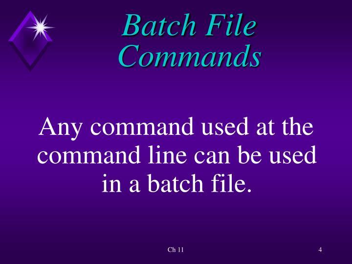 Batch File Commands