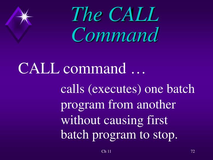 The CALL Command