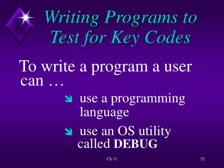 Writing Programs to Test for Key Codes