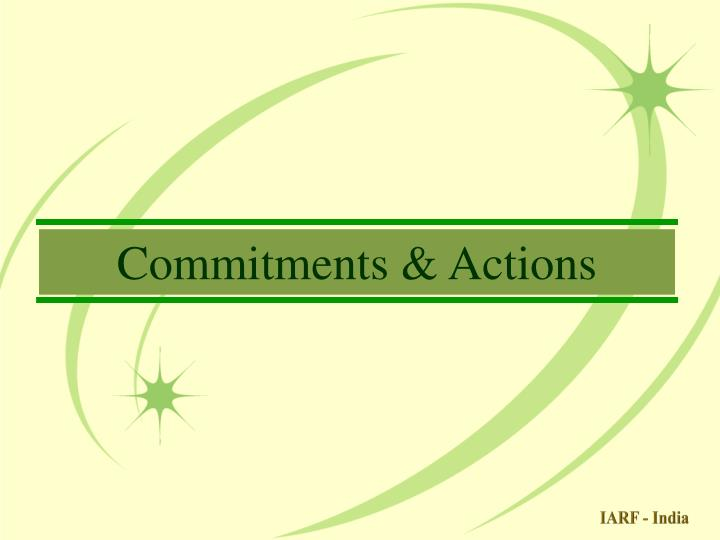 Commitments & Actions