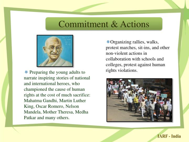 Commitment & Actions