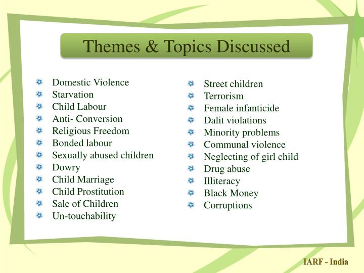 Themes & Topics Discussed
