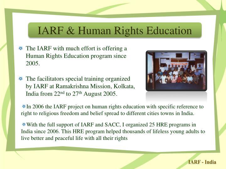 IARF & Human Rights Education