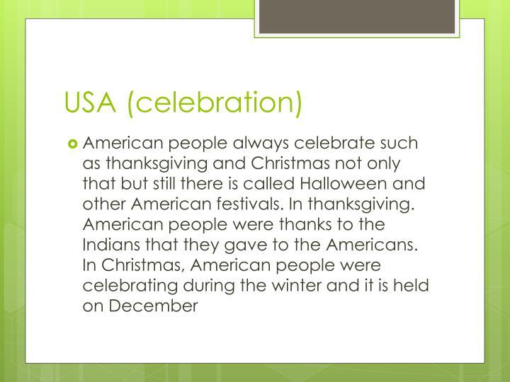 USA (celebration)