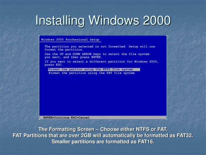 Installing Windows 2000
