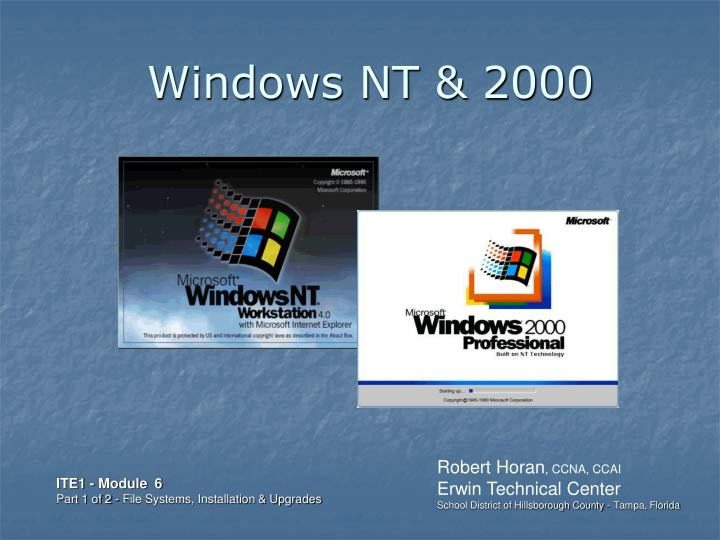 windows nt 2000