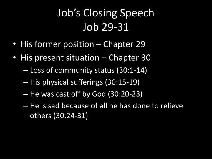 Job's Closing Speech