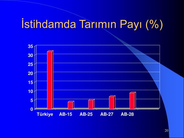 İstihdamda Tarımın Payı (%)