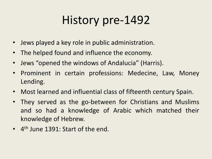 History pre-1492