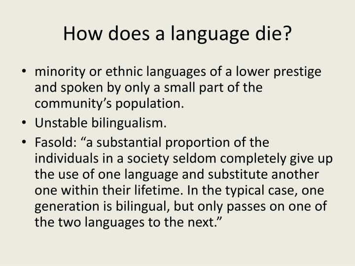 How does a language die?