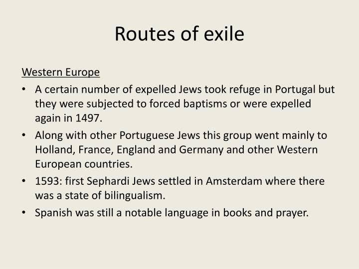 Routes of exile
