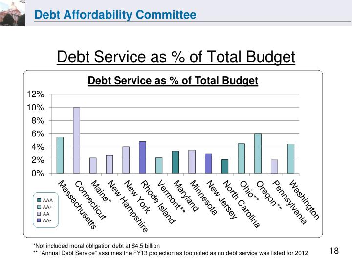 Debt Service as % of Total Budget