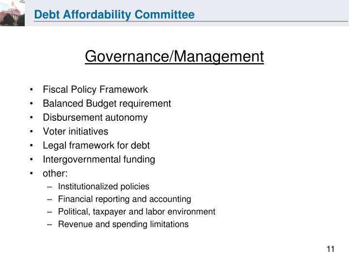 Governance/Management