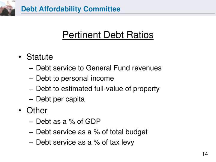 Pertinent Debt Ratios