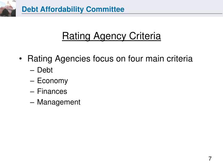 Rating Agency Criteria