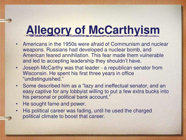 Allegory of McCarthyism
