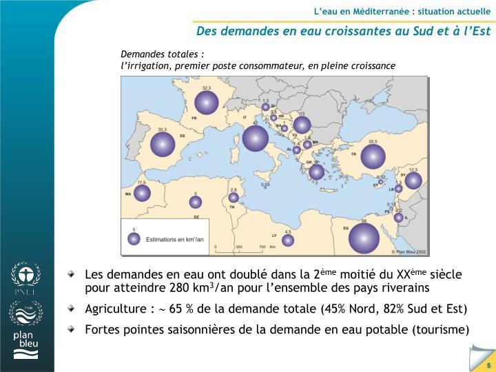L'eau en Méditerranée : situation actuelle