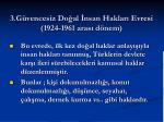 3 g vencesiz do al nsan haklar evresi 1924 1961 aras d nem