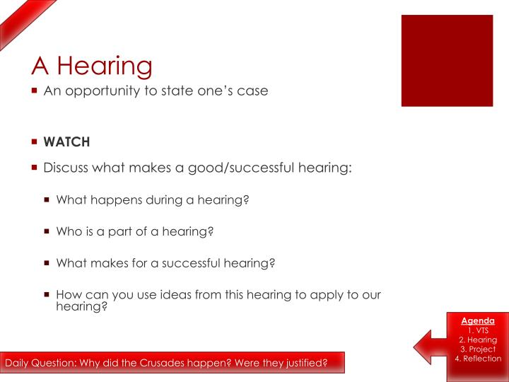A hearing