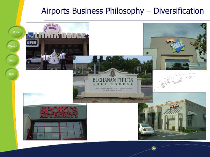 Airports business philosophy diversification