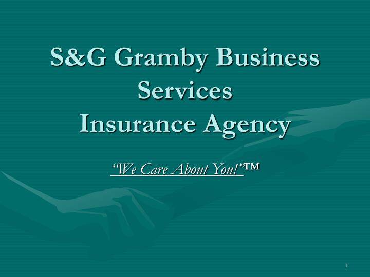 s g gramby business services insurance agency