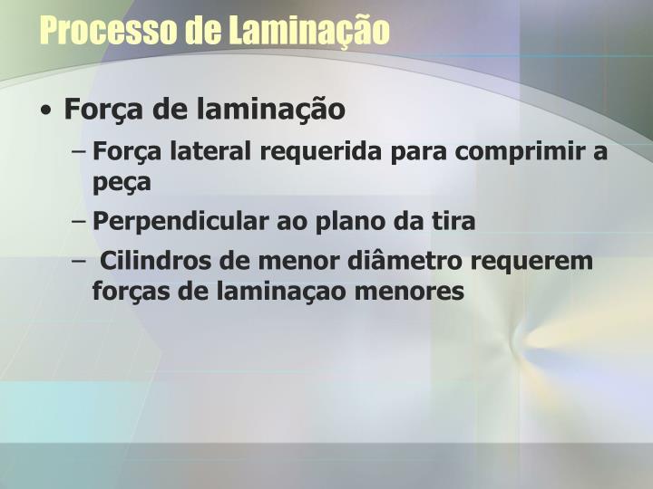 Processo de Laminação