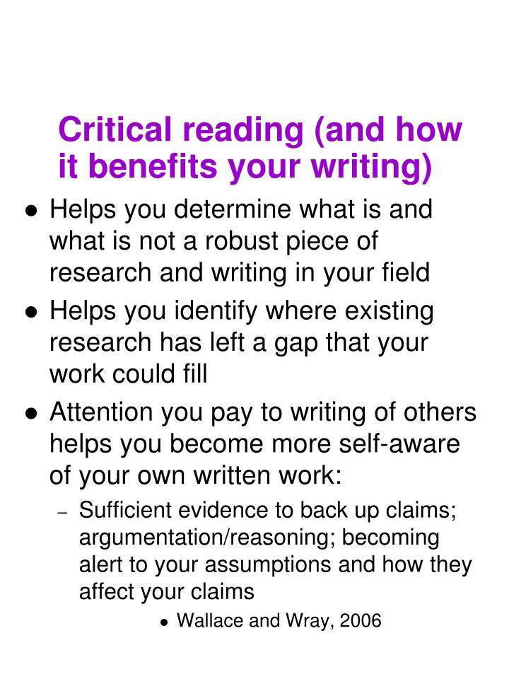 Critical reading (and how it benefits your writing)