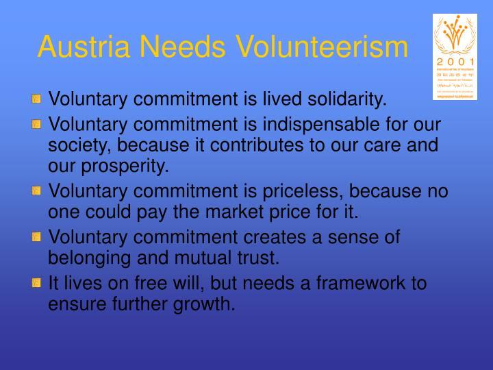 Austria Needs Volunteerism