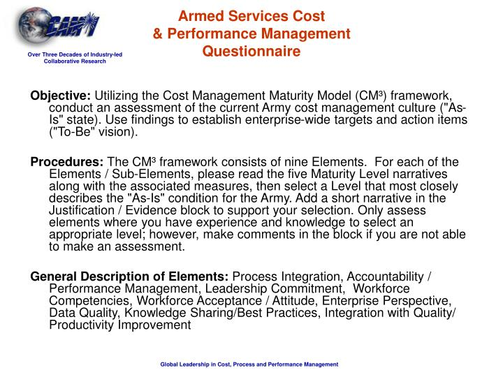 Armed Services Cost