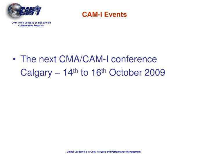 CAM-I Events