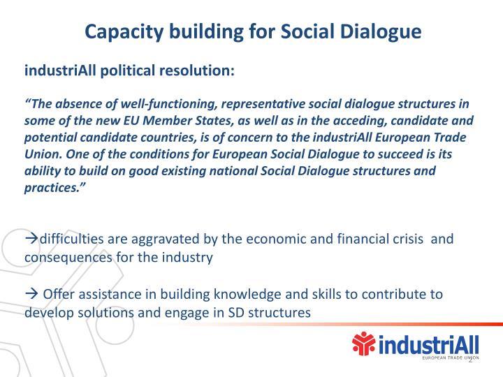 Capacity building for Social Dialogue