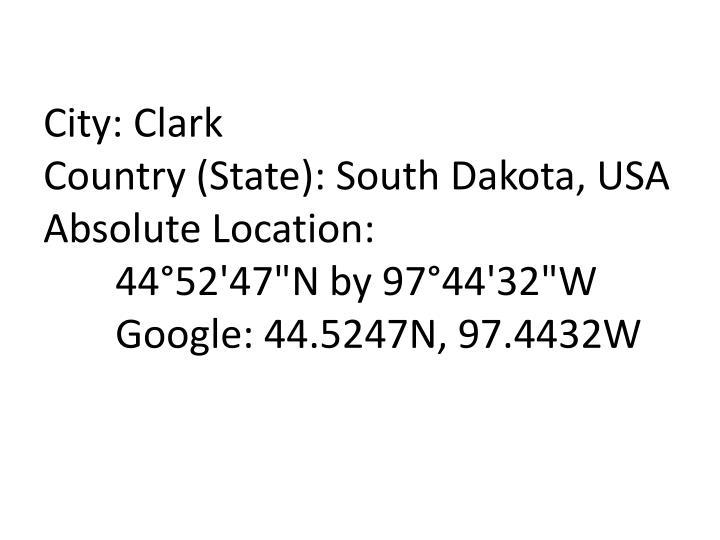 City: Clark