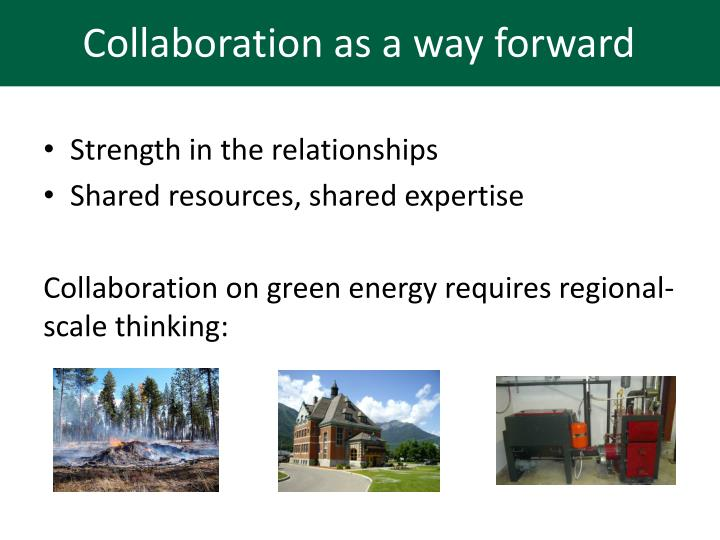 Collaboration as a way forward