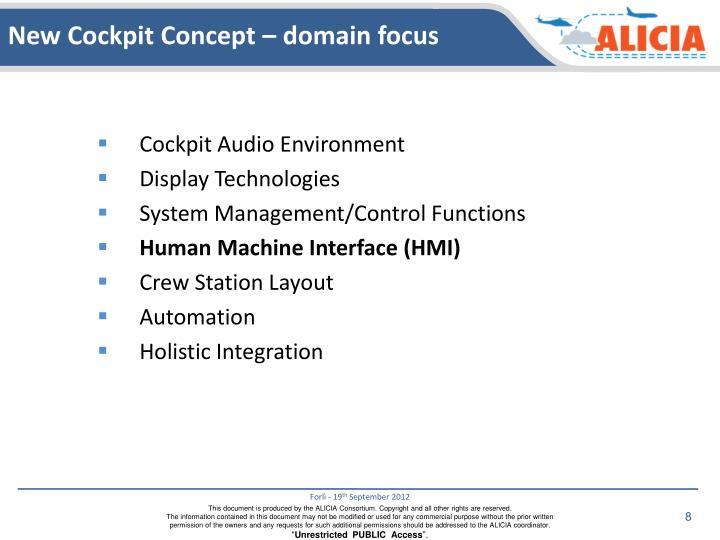 New Cockpit Concept – domain focus
