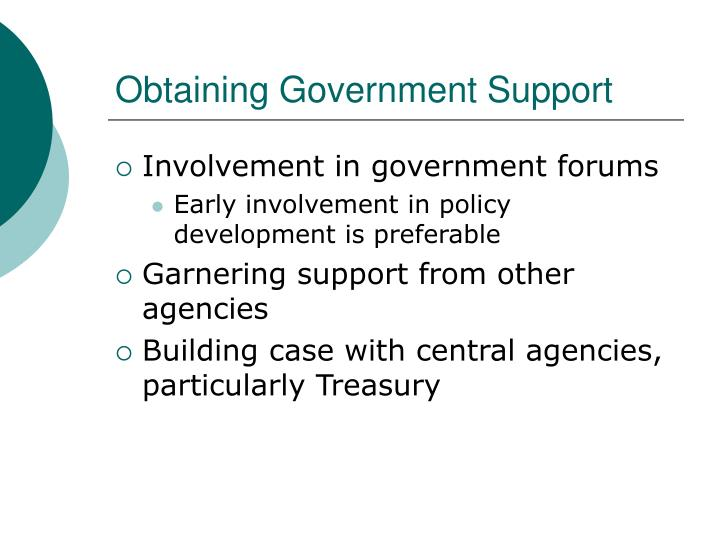 Obtaining Government Support
