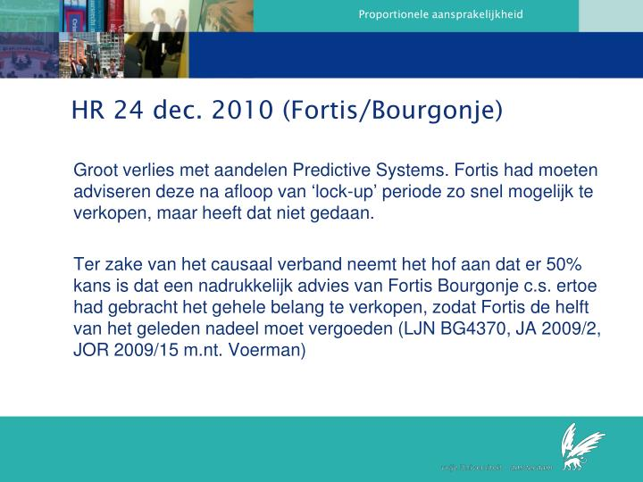 HR 24 dec. 2010 (Fortis/Bourgonje)