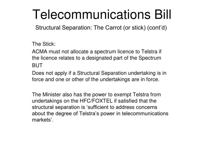 Telecommunications Bill