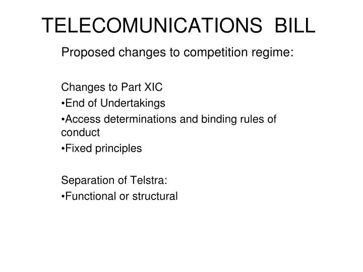 TELECOMUNICATIONS  BILL