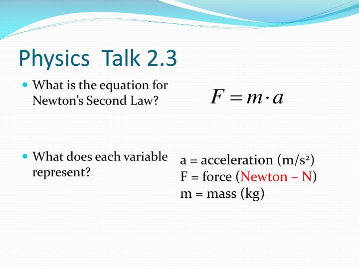 Physics  Talk 2.3