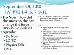 september 29 2010 hw ptg 1 4 6 7 9 11