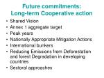 future commitments long term cooperative action