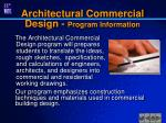 architectural commercial design program information