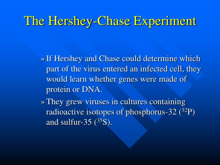 The Hershey-Chase Experiment