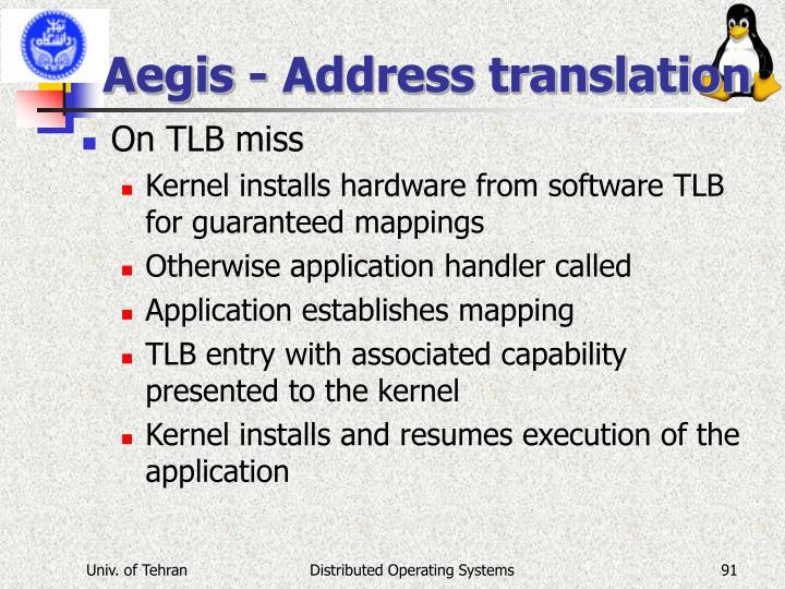 Aegis - Address translation