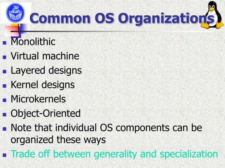 Common OS Organizations