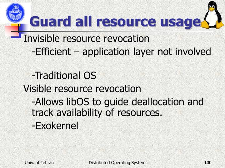 Guard all resource usage