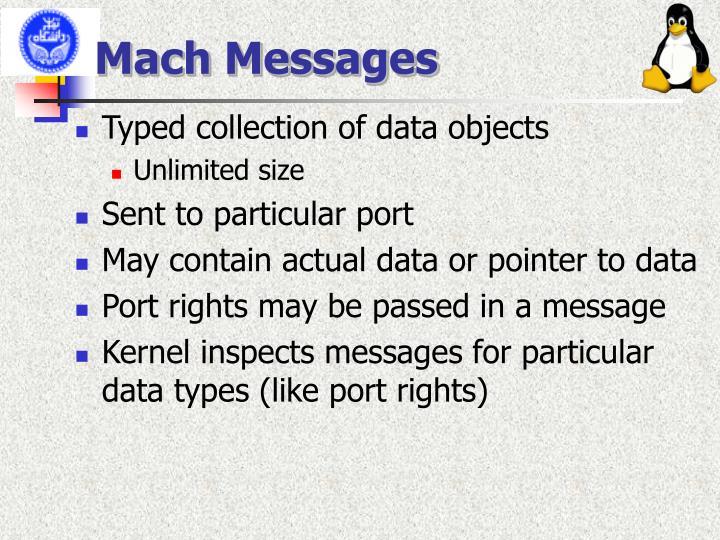 Mach Messages